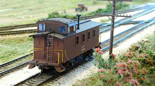 Rich Chrysler's Canada Division NYC 4 Window Wood Caboose