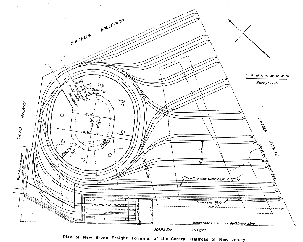 Cnj Bronx Terminal Plans For Train Track Wiring In 1907 The Railroad Gazette Published